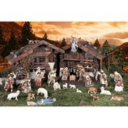 Tirolese nativity Nativity with wooden figures