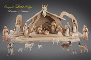 Light Nativity Original Crib carved in wood