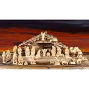 Fir cone crib Nativity set