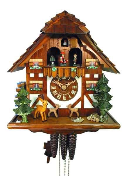 Orologio cuc k023 orologi a cucu presepi sculture in legno val gardena demetz patrick - Orologi a cucu design ...