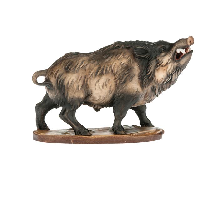 wildschweingruppe aus bronze