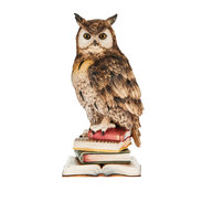 Owl on books