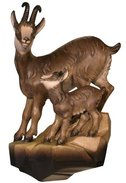 Chamois with fawn to hang