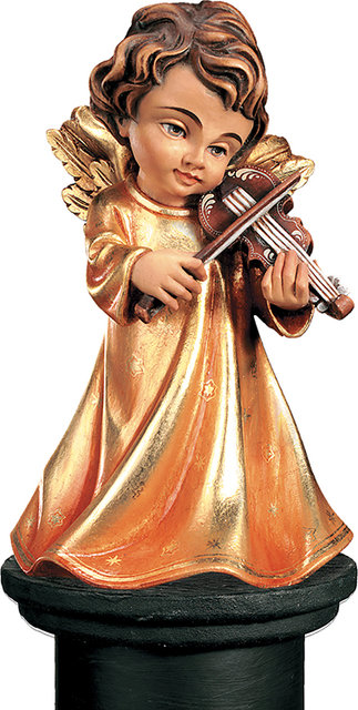 Angel With Violin Woodcarving Nativity And Chess Set In