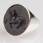 Ring silver  -  Aries