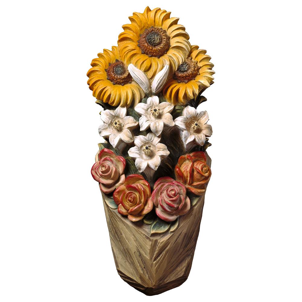 Rilievo girasole orologi a cucu presepi sculture in for Sculture di fiori