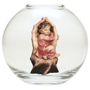 Protective hands girl  -  Glass sphere