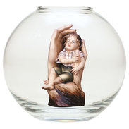 Protective hands boy  -  Glass sphere