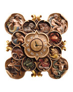 Clock with zodiac
