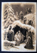 Christmas card with envelope  -  Nativity