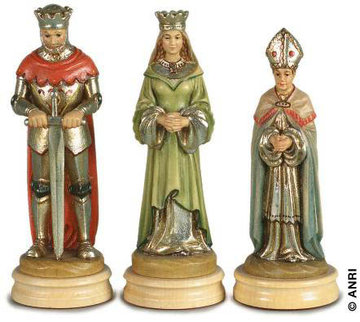 Chess Montsalvat Anri Woodcarving Nativity And Chess Set