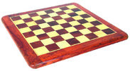Chess board in palisander and maple wood
