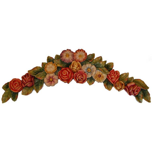 Sopraporta con fiori orologi a cucu presepi sculture for Sculture di fiori