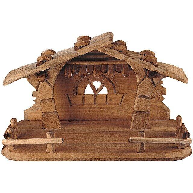 Capanna semplice orologi a cucu presepi sculture in for Costruire una semplice capanna di legno