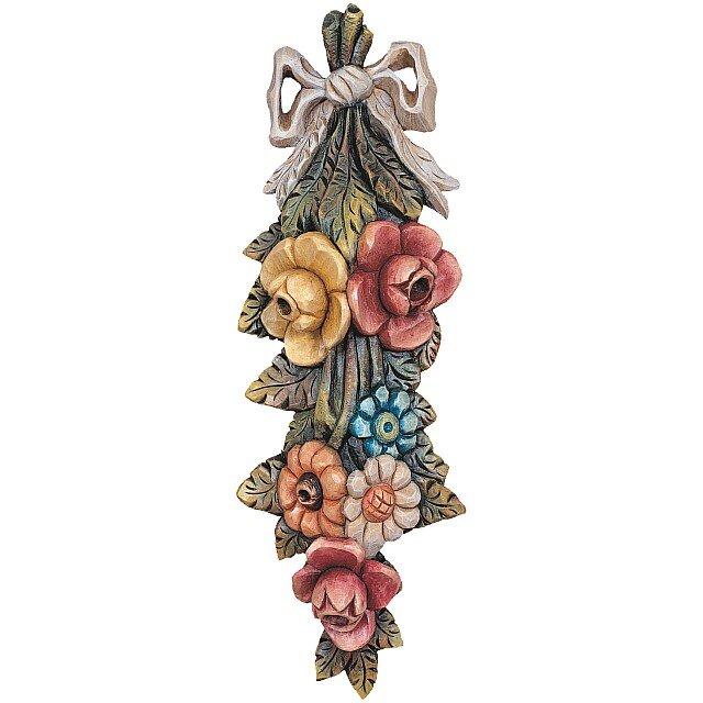 Composizione di fiori rosengarten orologi a cucu presepi for Sculture di fiori