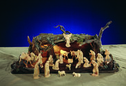 Swiss Stone Pine Nativity Set