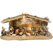 Tirolese farm crib crib in wood