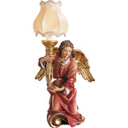 Chorus angel with lamp left side