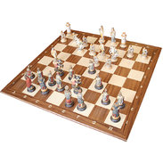 Chess board in maple and walnut wood Chess board without chess set