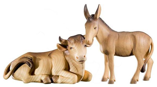 Bue e asinello Orologi a cucu - presepi - sculture in legno - Val