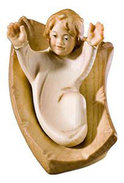 Infant Jesus with cradle 2 pieces