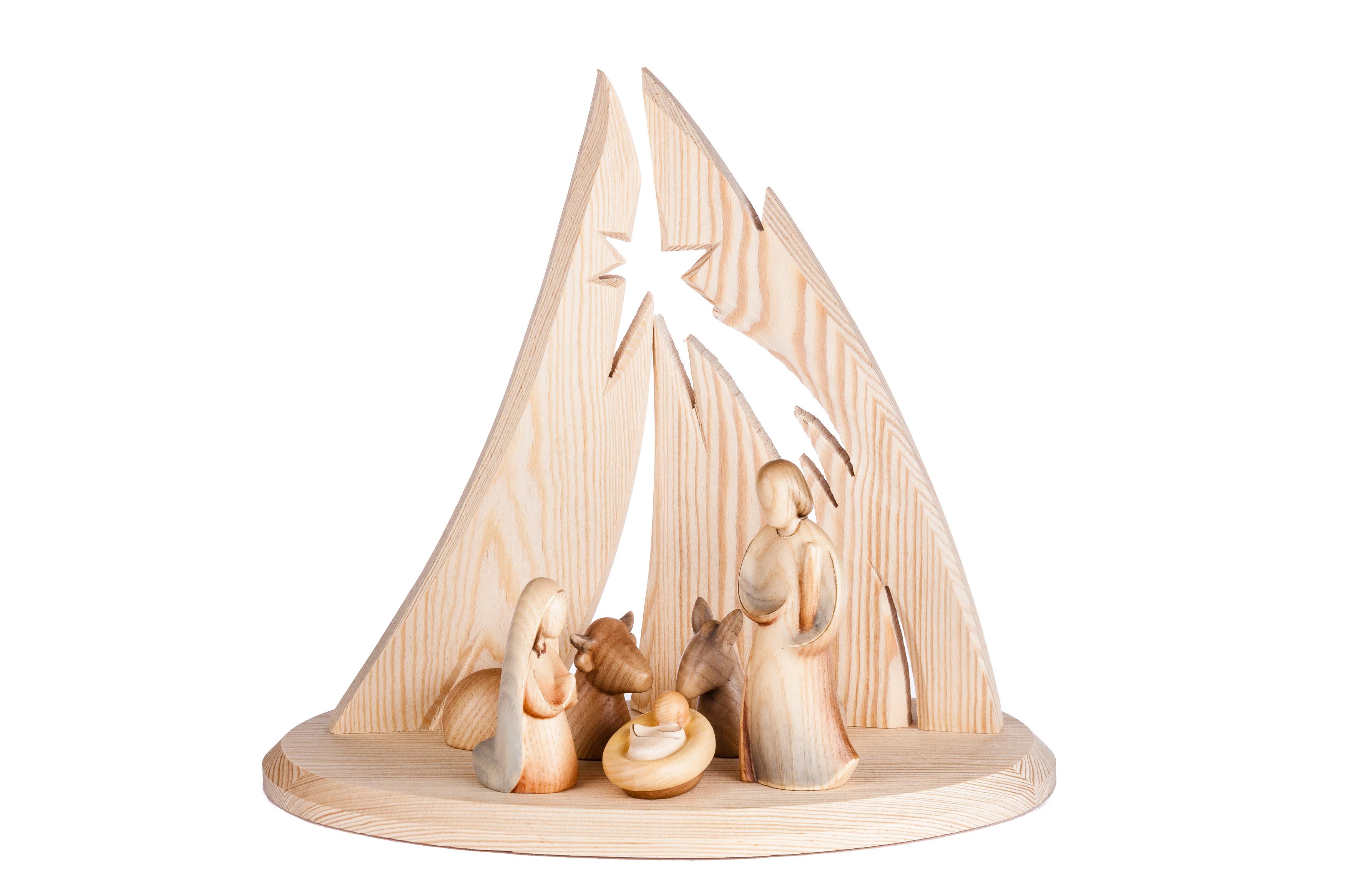 Weihnachtskrippe Modern.Modern Art Complete Nativity 6 Pieces Demetz Patrick Woodcarvings