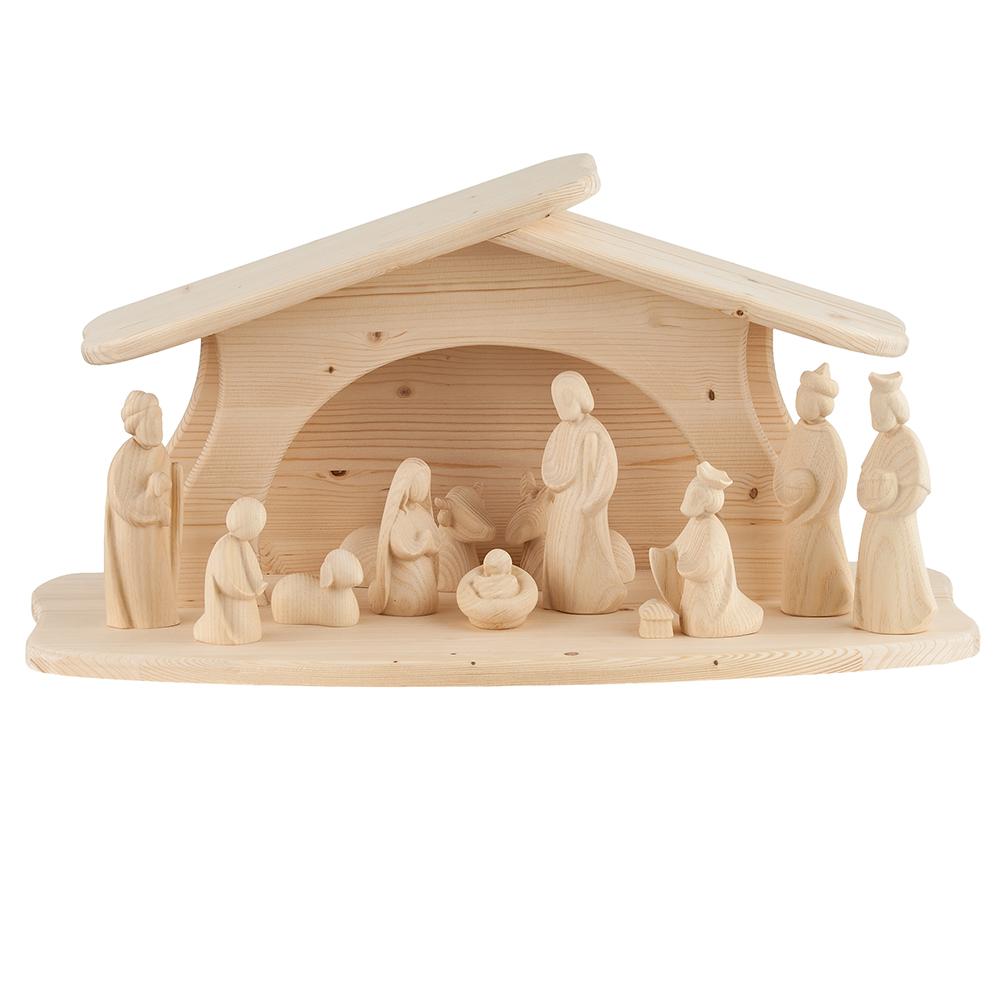 Weihnachtskrippe Modern.Modern Art Nativity Set 12 Pieces Woodcarvings Val Gardena