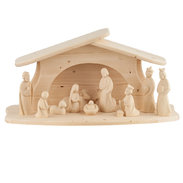 Modern Art complete nativity natural 12 pieces