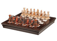 Chess set P335W + Medieval chess set sch08MI 10 cm