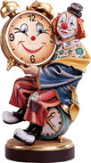Clown with painted clock