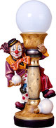 Electrical lamp clown with bow