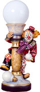 Electrical lamp clown with tie