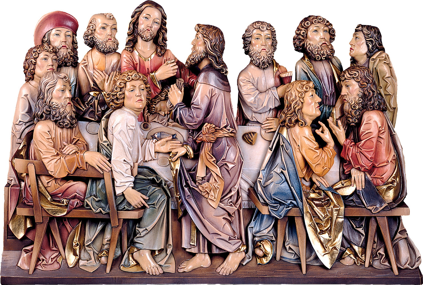 Last Supper Riemenschneider Style Woodcarving Nativity