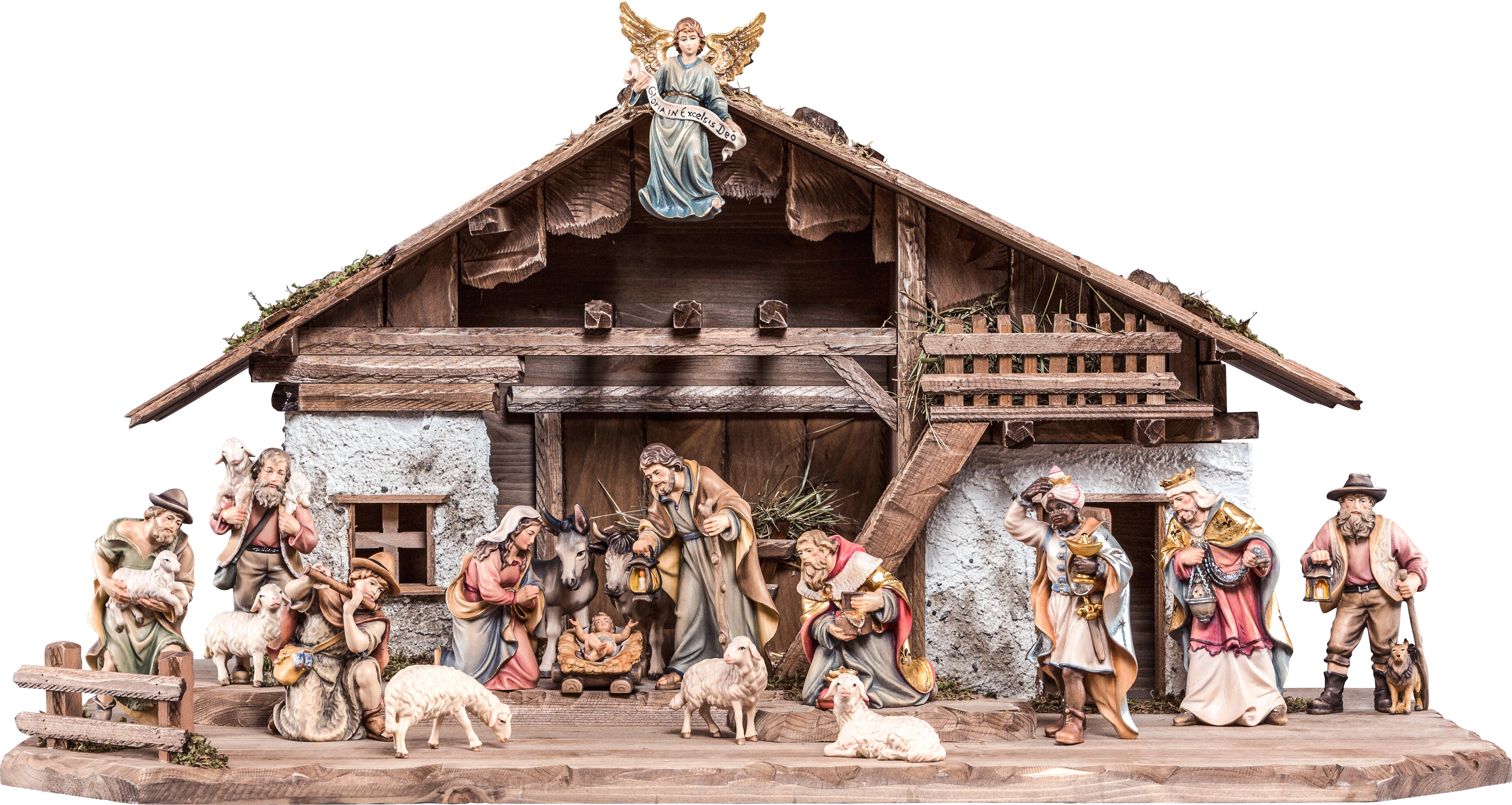 Nativity Set Hk 18 Pieces Woodcarving Nativity And Chess Set In