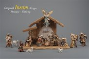 IN Presepe Insam set 15 figure + capanna Notte Santa