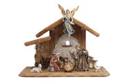 IN Set 8 figurines + stable Holy Night