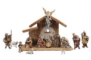 IN Set 15 figurines + stable Holy Night