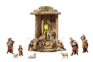 IN Lantern Cometstar + 13 Ewald nativity figurines + light and transformer