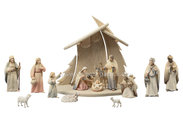 LI Stable Christmastree + 15 figurines Light nativity