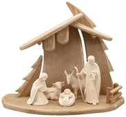 LI Stable Christmastree + 5 figurines Light nativity