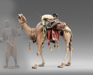 Dromedary with bags for Bedouin