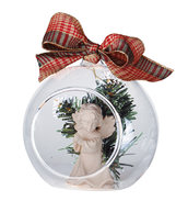 Angel in glass sphere