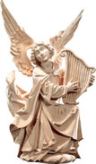 Genuflected angel with harp
