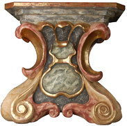 Pedestal baroque high