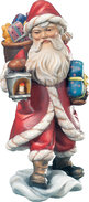 Santa Claus with basket and lantern