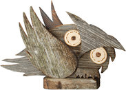 Owl of old wood left