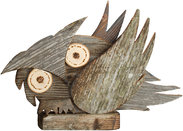 Owl of old wood right