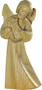 Mary's angel with harp  -  ash wood