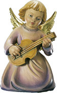 Kneeling angel with guitar