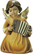 Kneeling angel with accordion